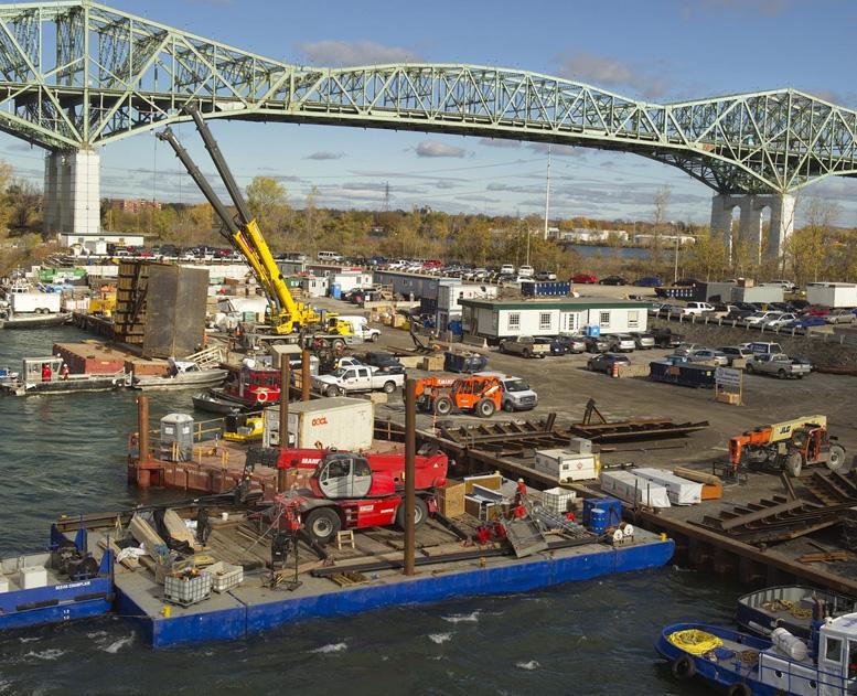 Construction Pont Champlain